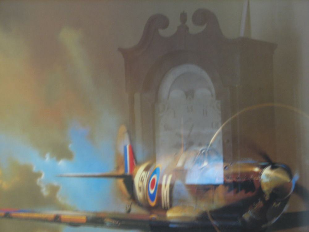 Spitfire reflection by Vivian Wilcox