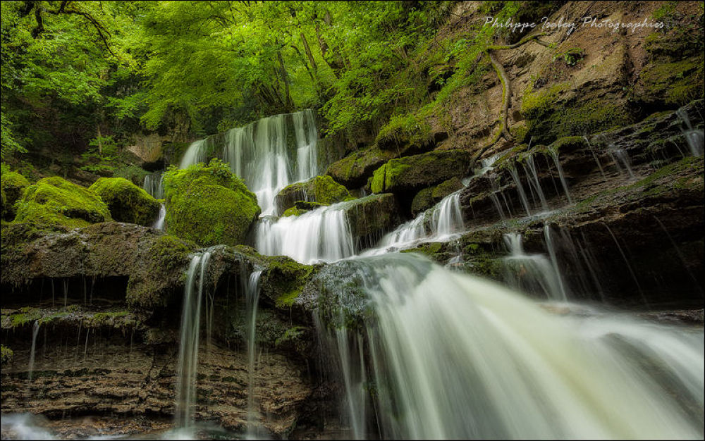 Waterfall in a setting green by philippeisabey