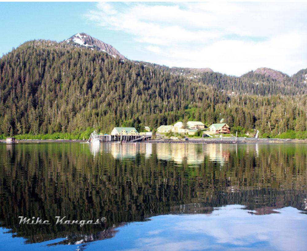 Salmon hatchery Evans Island, Alaska by mikekangas
