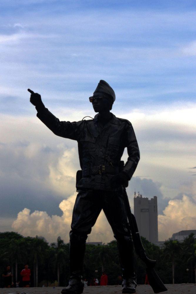 man on BLUE SKY by dewarahmana