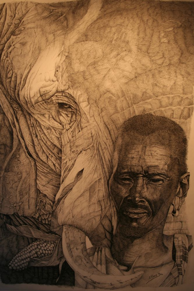 Struggle for life(AFRIKA wildlife paintings-Ivo Staes-www.art-from-the-heart.be) by ivostaes