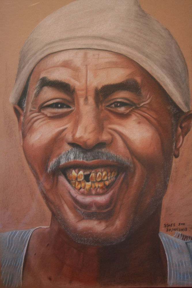 Keep Smiling  (AFRIKA Wild life paintings-Ivo Staes-www.art-from-the-heart.be) by ivostaes