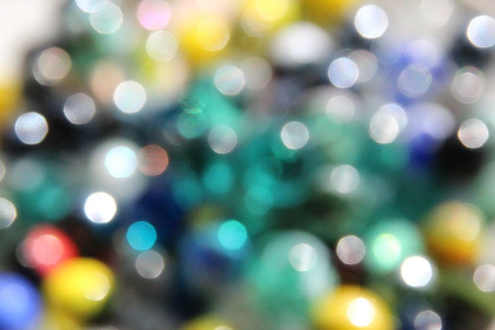 My fuzzy marbles by Henk de Groot