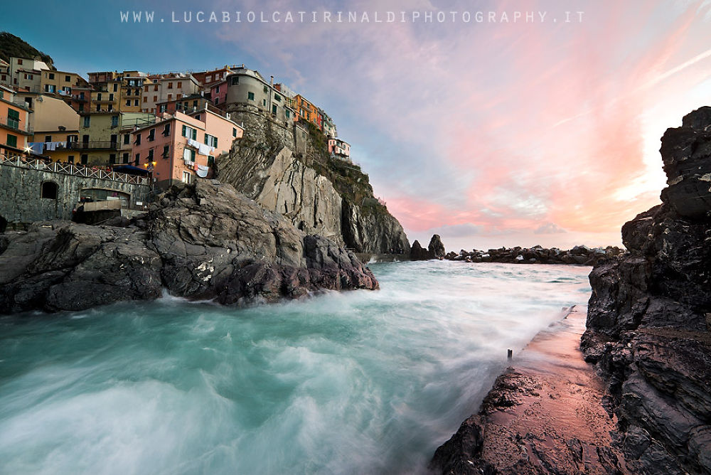 Sunset from Manarola by Luca Biolcati Rinaldi