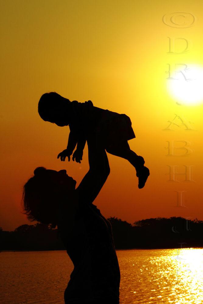 Photo in Random #girl #water #sunset #human