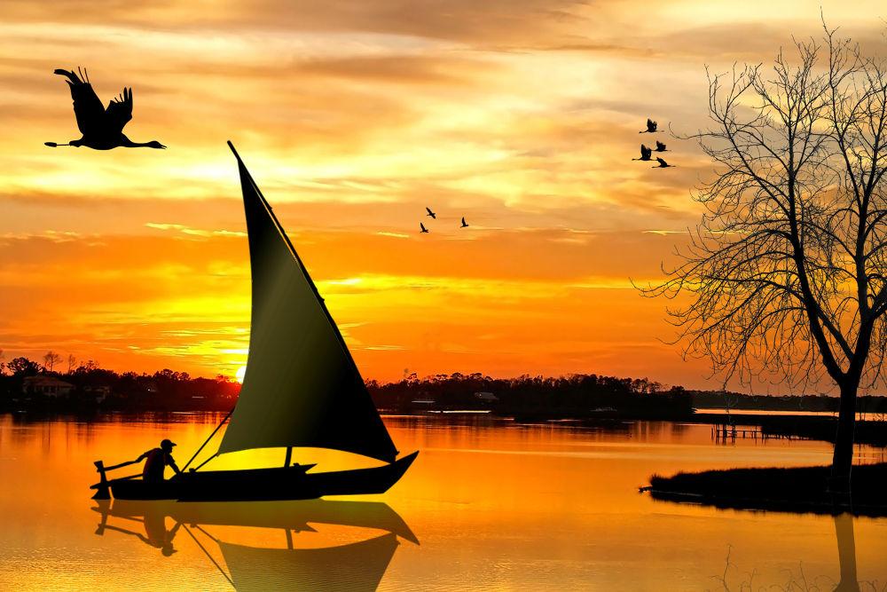 sunset by ambujakshamenon5