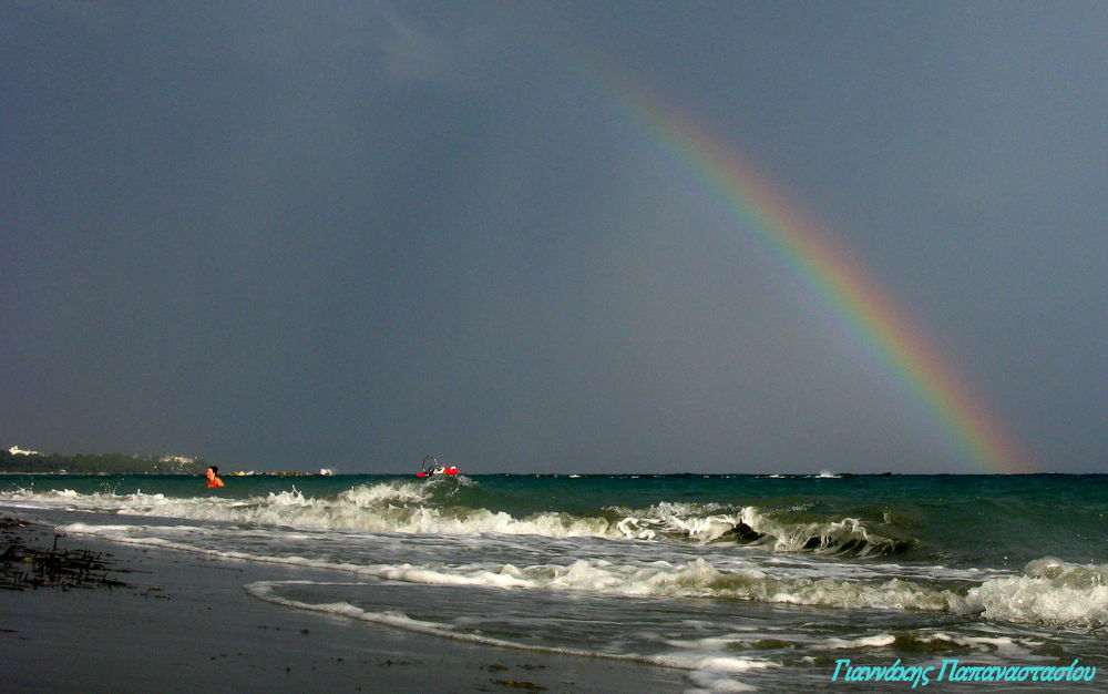 Rainbow, Sea of Limassol by giannispapanastasiou1