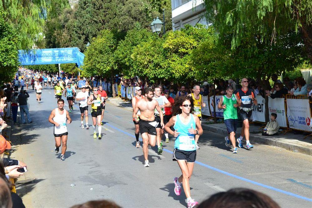 26000 marathon runners took part. ATHENS by georgelampri