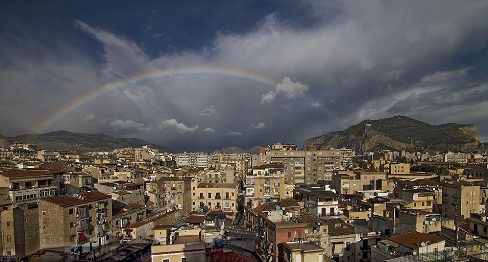 Rainbow over Palermo by Tamás Szabó