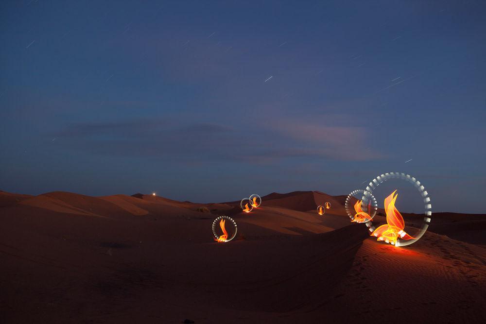 Photo in Fine Art #lightpainting #light painting #cisco lightpainting #kechlight #morocco #desert #sahara