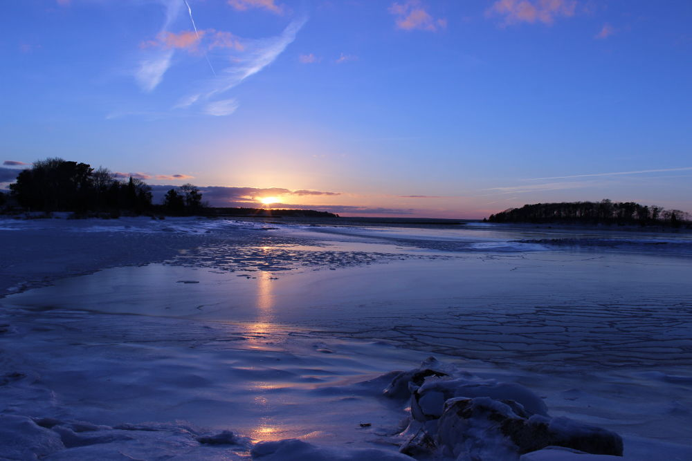 Cold Sunset by Clem Walsh Photography