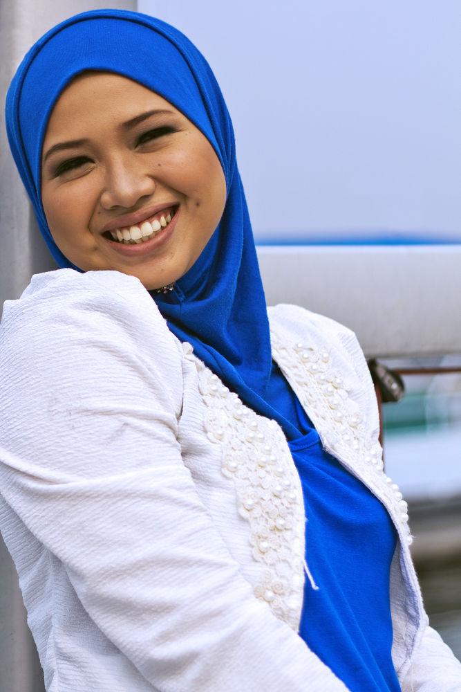 Dimpled smile by Azizan Izani Ishak