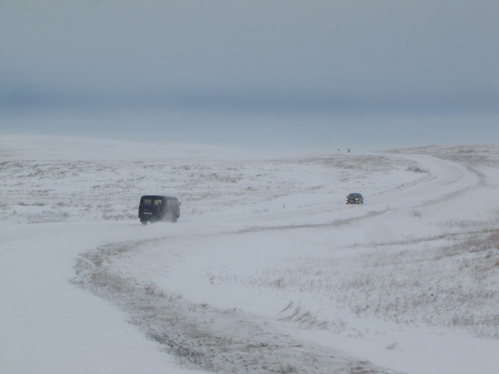 Photo in Travel #winter #kazakhstan #snow #ice #wind #cold #freezing #travel #adventure #road