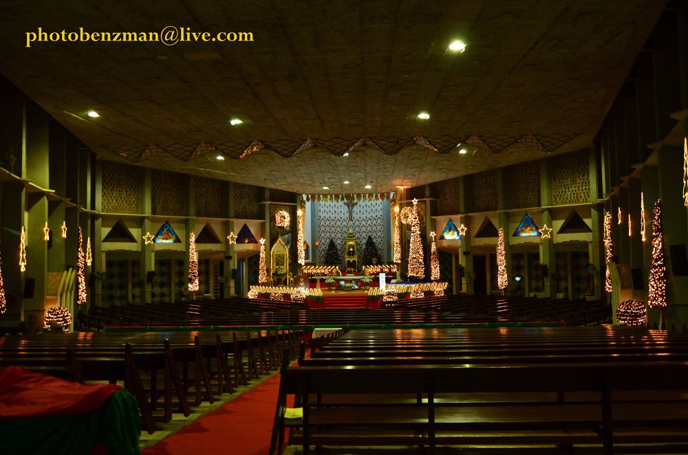 Chrismaslightning in a church  by tomdahlqvist3