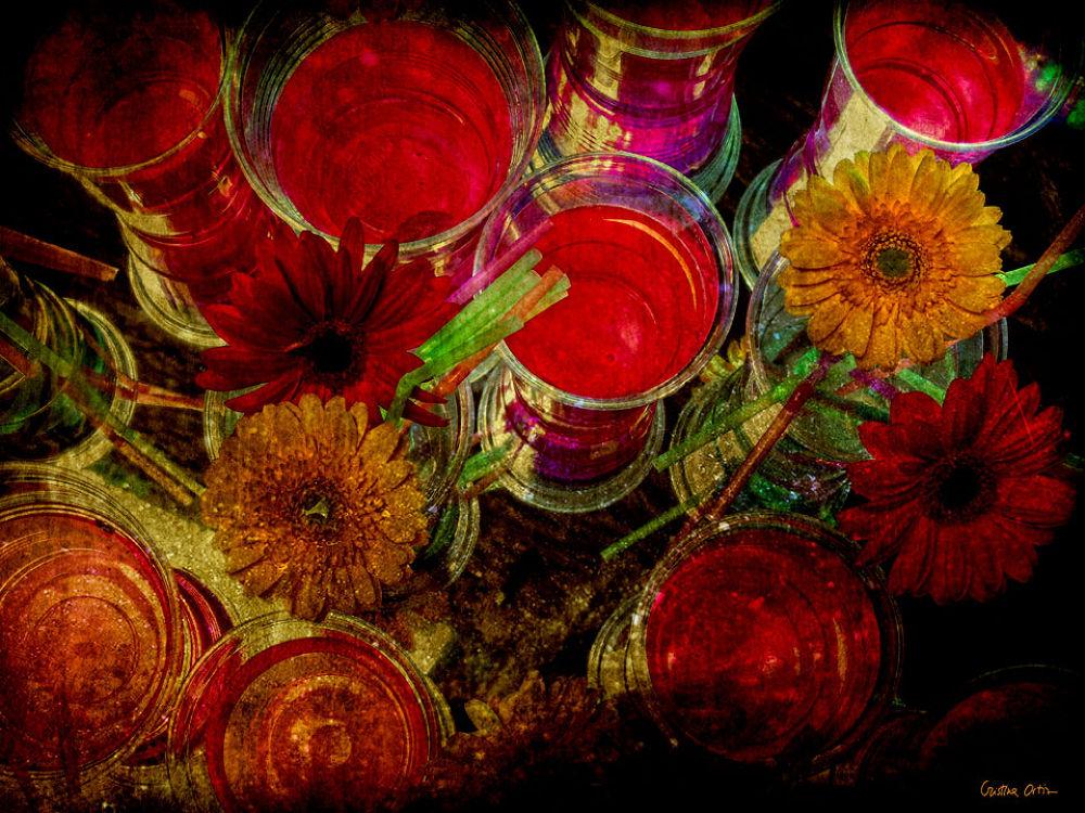 RED FLOWERS II by CristinaOrtiz