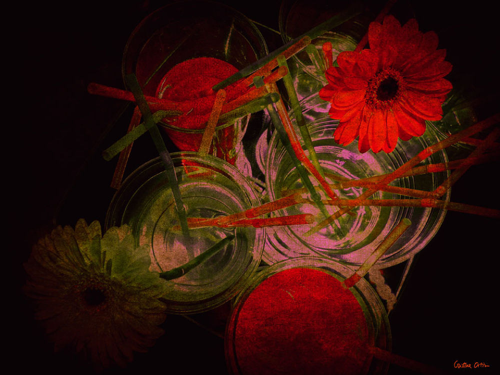 RED FLOWERS IV by CristinaOrtiz