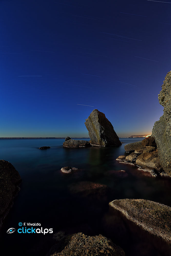 Nightscape in front of the sea by VivaldaFabio