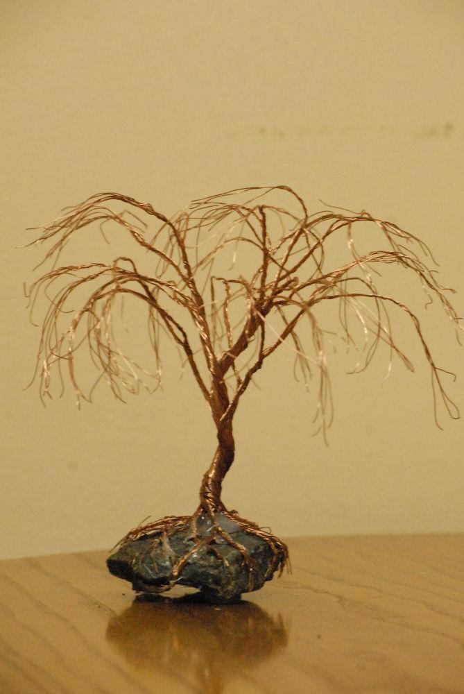 Copper tellers trees by hananel hebe