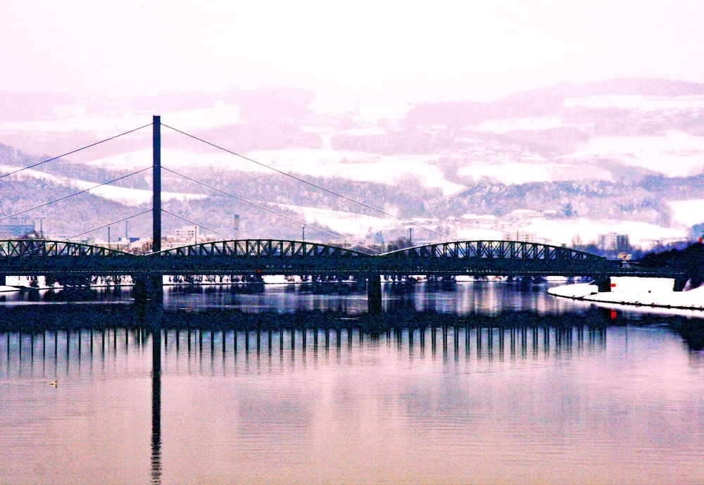 Reflection across the Danube River by RusselWinterflood