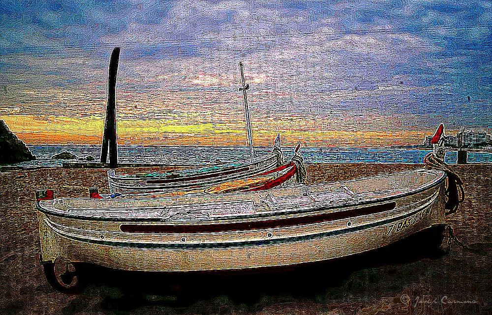 Photo in Landscape #fishermen boats #blanes #costa brava #gerona #spain #mediterranean #beach #sa palomera