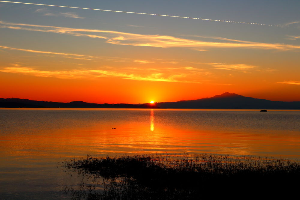Sunset at Point Pinole by Redthistle