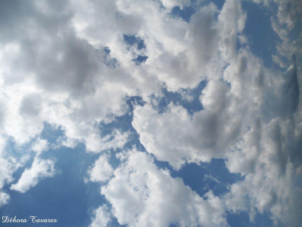 Pedaços de algodão espalhados pelo o céu by Débora Tavares