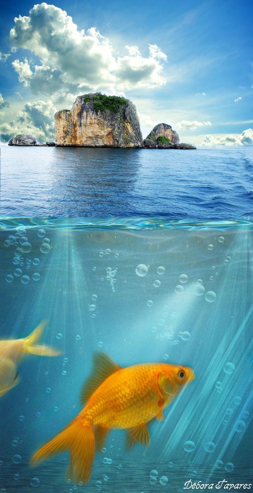 Giant Fish (PhotoShop) by Débora Tavares