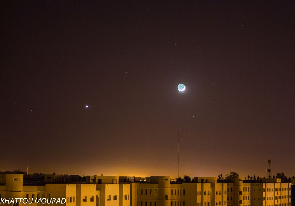 Moon and Venus by khattou Mourad