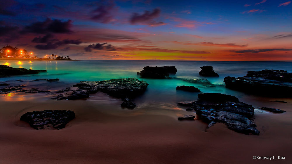 Glowing Sunrise! (Sandy Beach, Oahu, Hawaii) by OkayItsme
