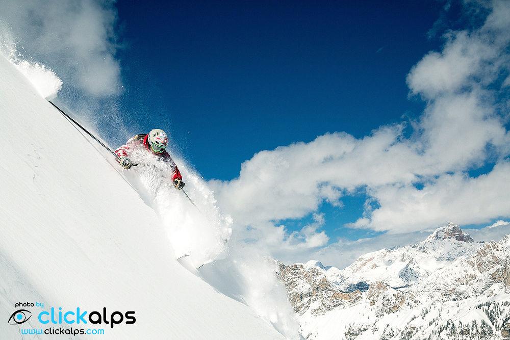 Freeride in Dolomites, Italy (Nicolò Miana) by clickalps
