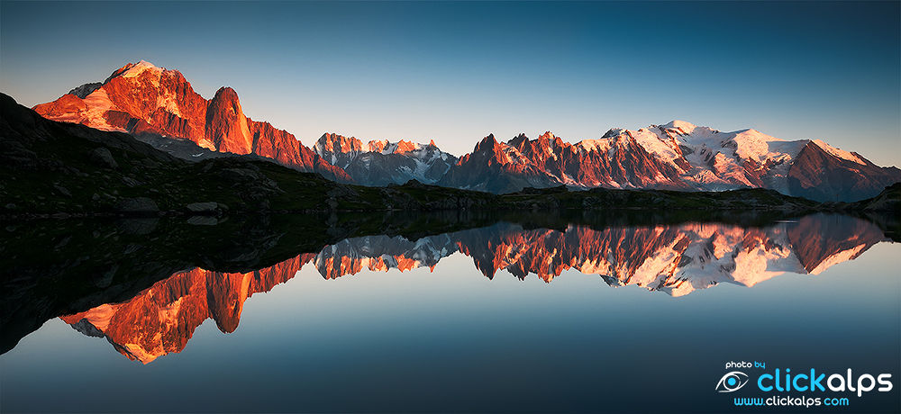 Mont Blanc reflects on Cheserys lake ( Luca Gino ) by clickalps