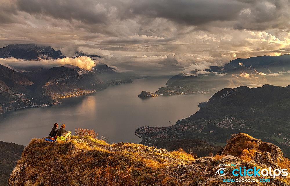 Photo in Landscape #como #lake #lombardia #acqua #water #sunset #panorama #clickalps #admire #tranquility