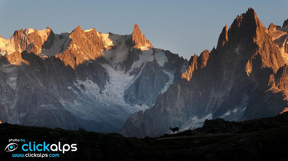 Photo in Landscape #walking #aiguilles #alps #mountains #clickalps #sunset