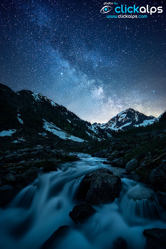 Milky Way on Riofreddo, Valle Stura Piedmont Italy (Luca-Gino) by clickalps