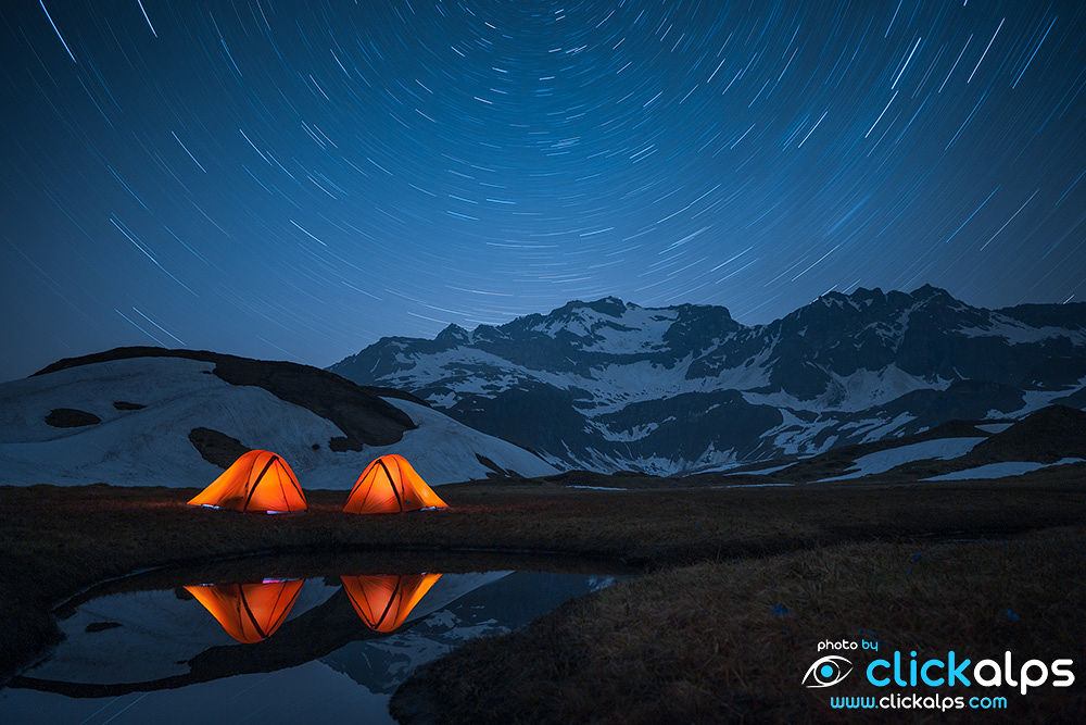 Tents over a million of stars in Alpe Devero  (Andrea Vallini) by clickalps