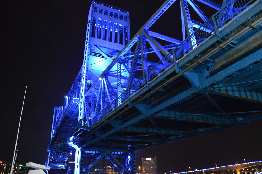 Main Street blue bridge, Jacksonville by Lcruzin01