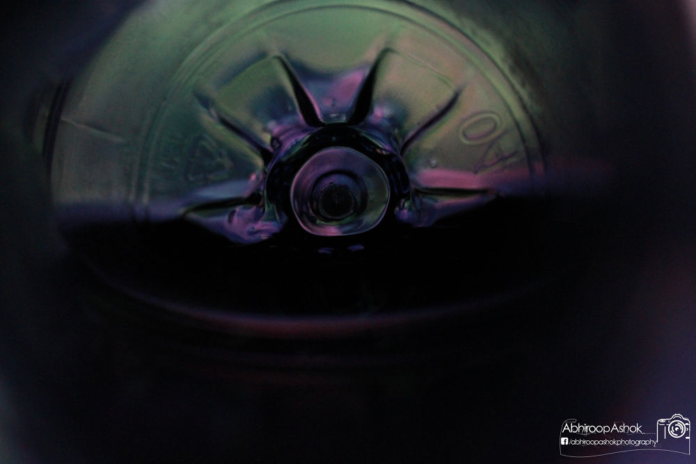 Photo in Abstract #bottle #view #inside #drink #water