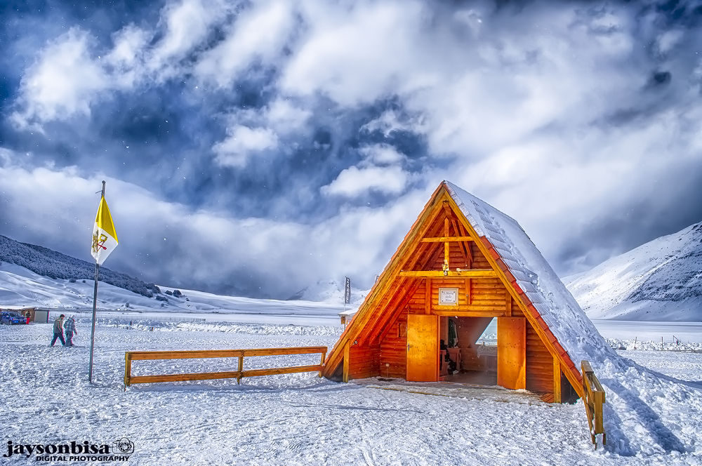 the church above the snow by jaysonbisa