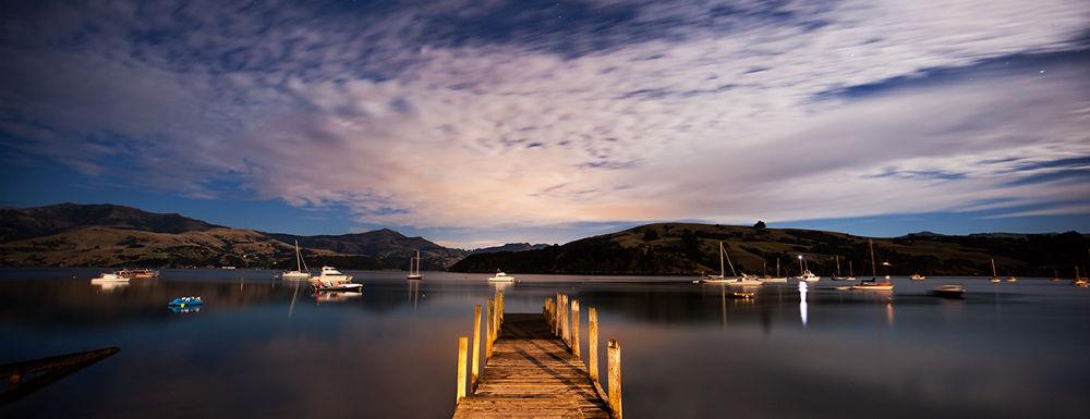 Midnight at Akaroa by RobDickinson