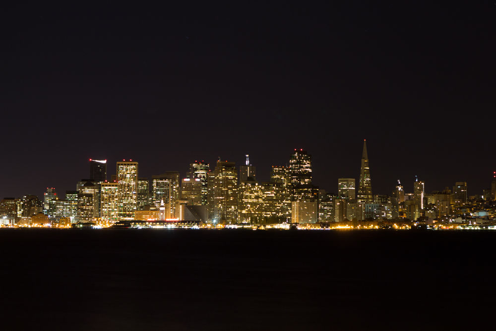 San Francisco at Night by VAMPhotography