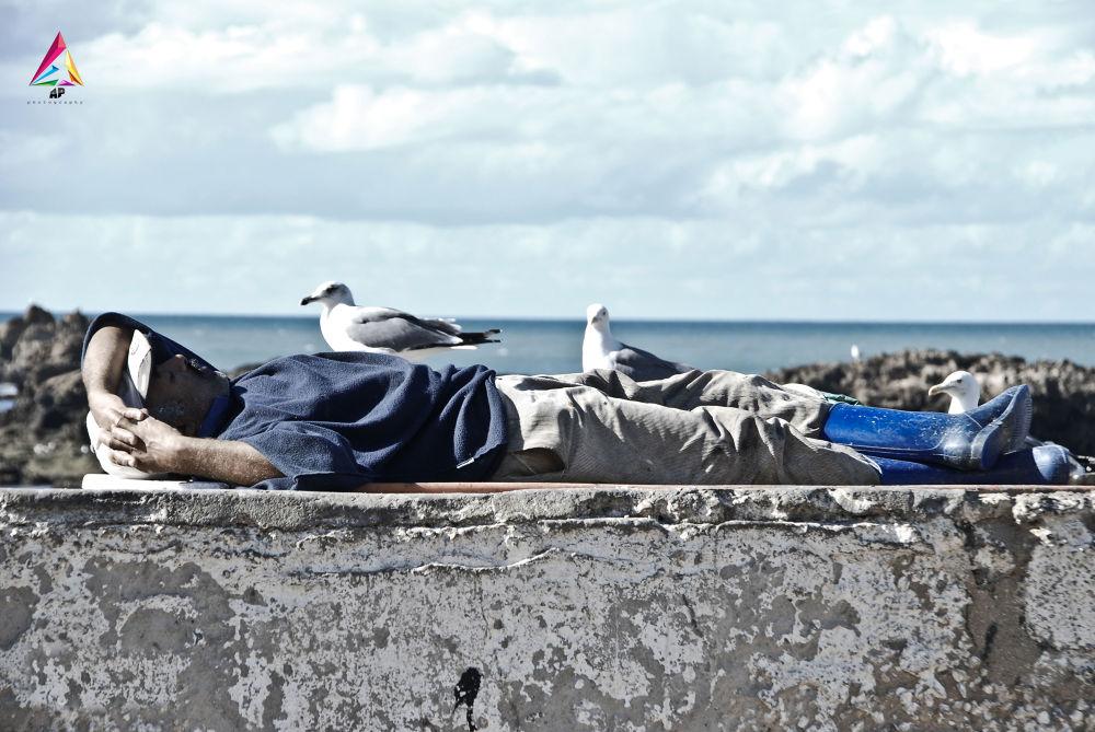 fisherman in a depth sleep by tayeb amghar