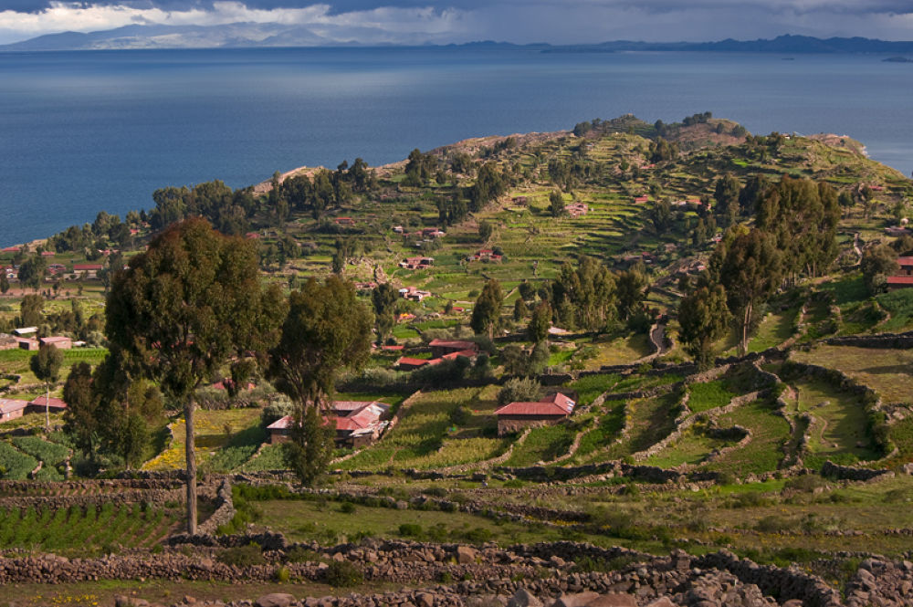 Taquile Island on Titicaca Lake by Ales Tvrdy