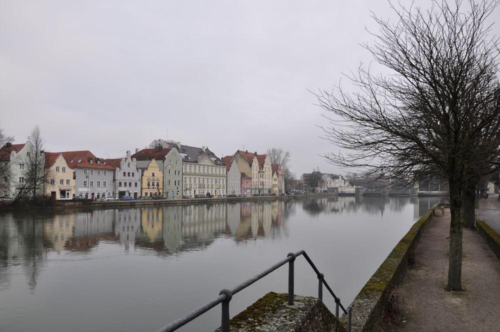 River Isar. Landshut. Germany by zara azit