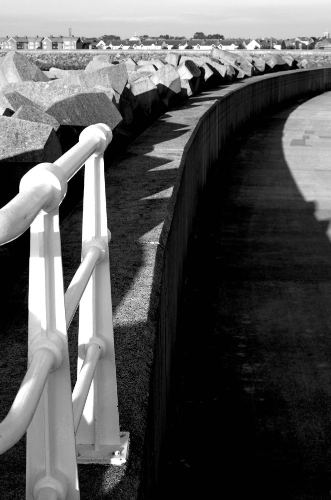 Middleton pier shadows  by geofftodhunter