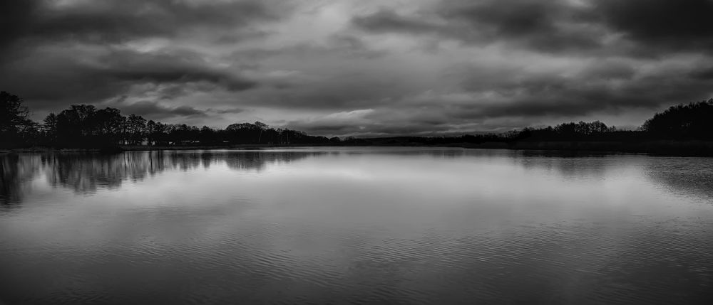 dark skies over the pond by Alexander Arntsen