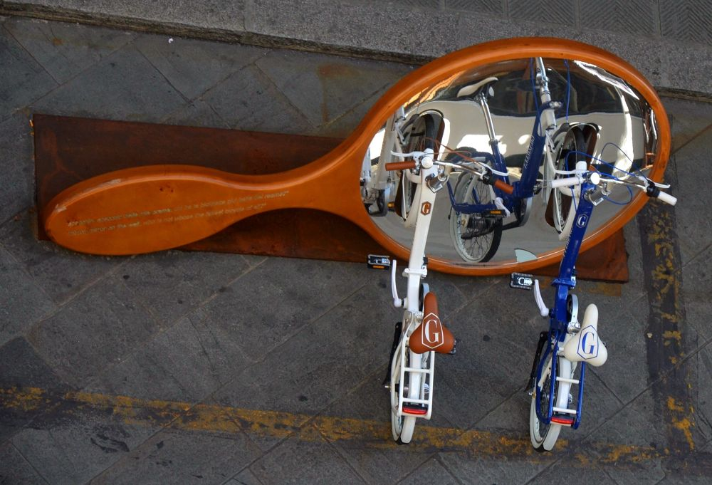 bikes in the mirror by manuel patti