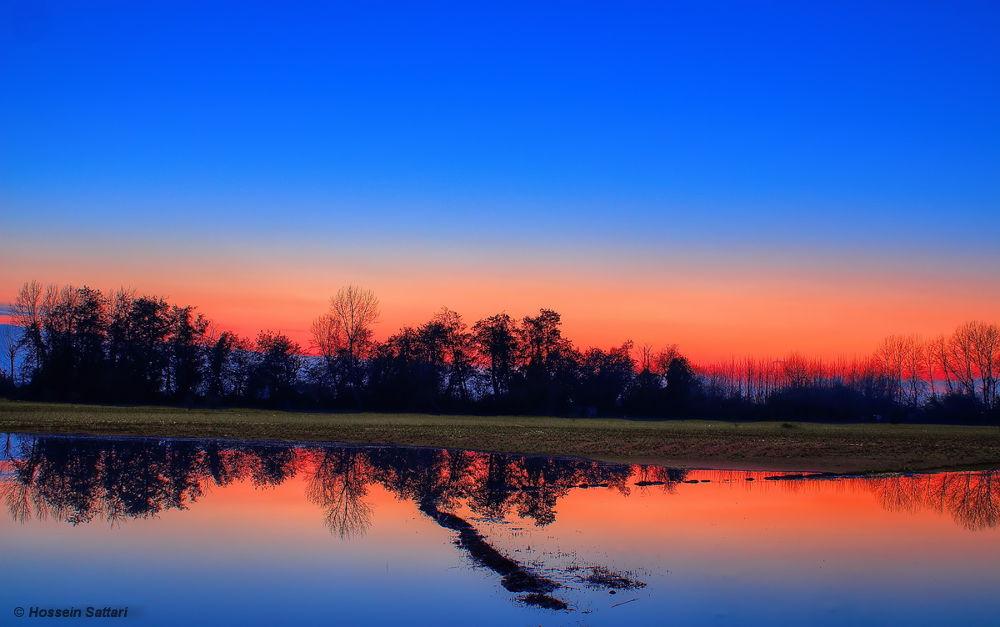 Photo in Landscape #sunset #mazandaran #reflection #sky