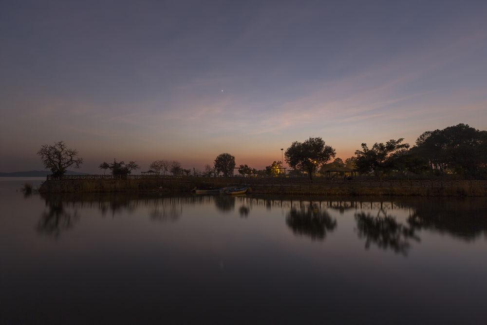 Autumn Twilight Reflection by Ahmed Sajjad