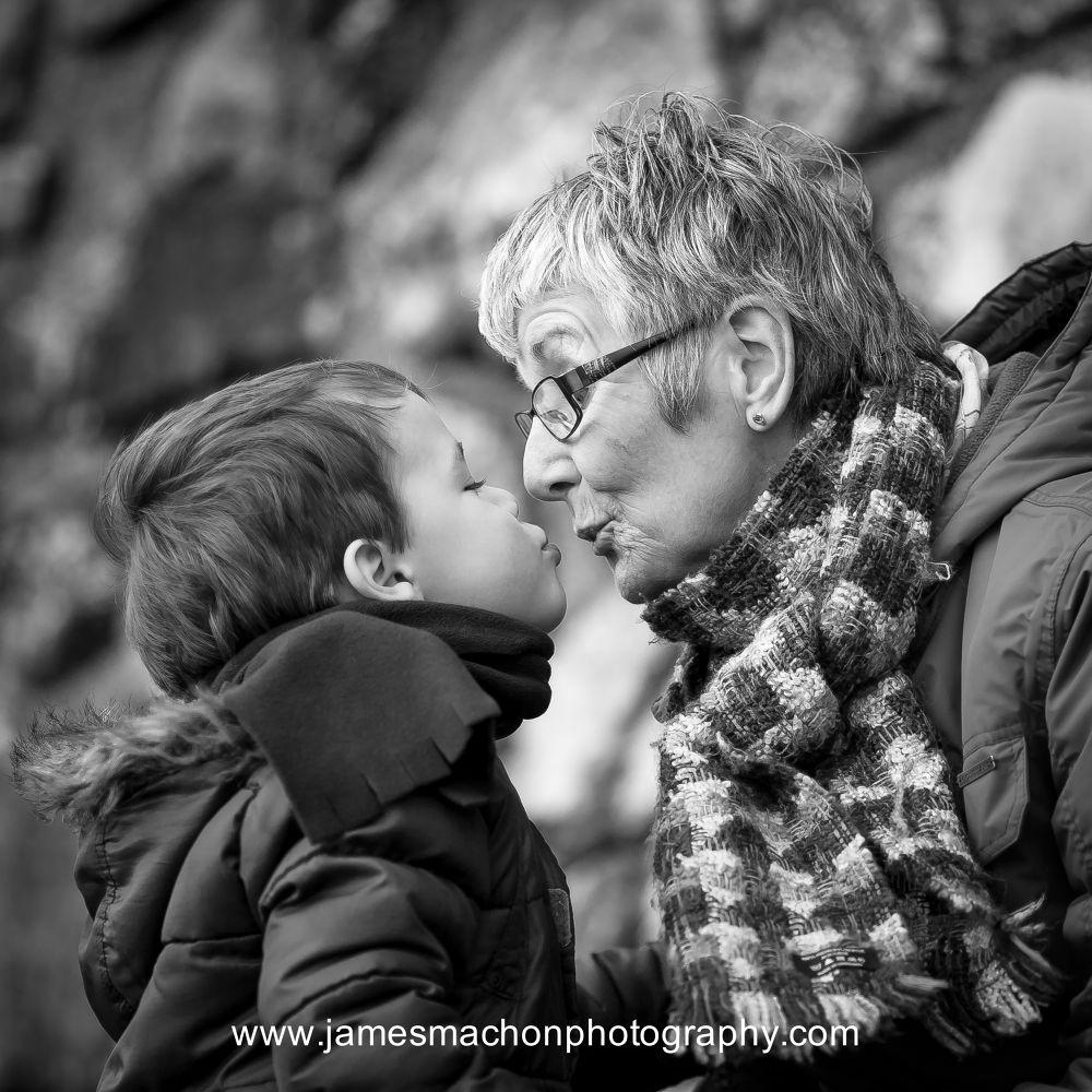 Give grandma a kiss  by James Machon Photography