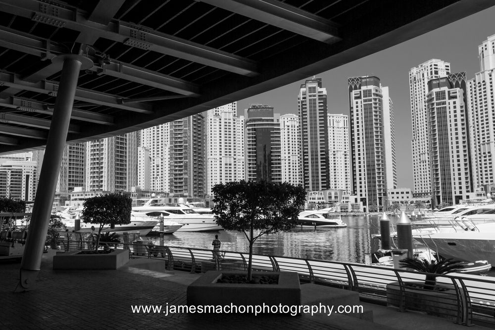 View from Dubai Yacht Club by James Machon Photography